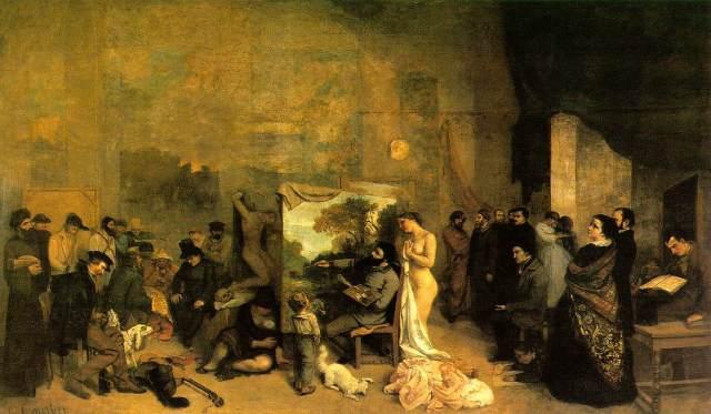 Gustav Courbet, L'Atelier du Peintre, 1855