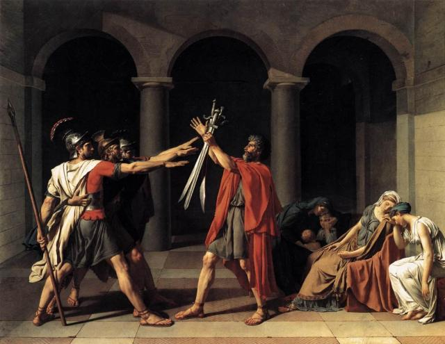 Jacque Louis David, The Oath of Horatii, 1784