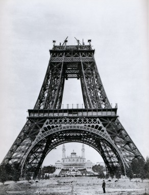 View of the Eiffel Tower, under construction,1889