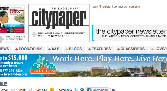 City Paper Screen