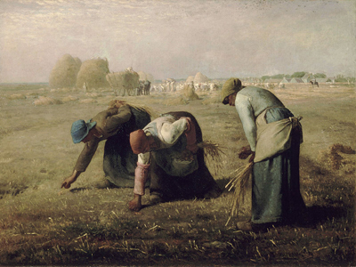 "Jean-François Millet, The Gleaners, oil on canvas, 33"" x 44"", 1857"
