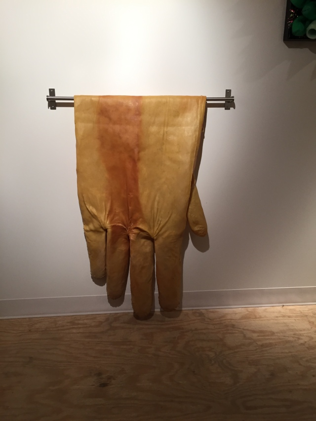 "Glove. 2015. Latex. 48"" x 24"" x 3"""